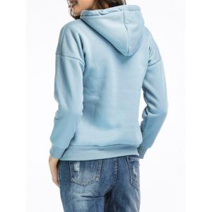 Embroidered Pullover Hoodie -