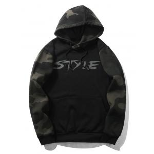 Camouflage Graphic Print Fleece Pullover Hoodie -