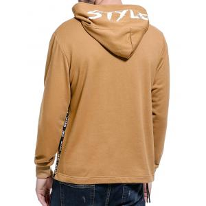 Graphic Braid Side Zip Pullover Hoodie -