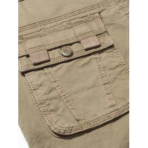 Drawstring Feet Zipper Fly Pockets Cargo Pants -