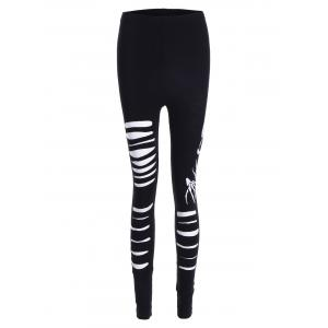 Ripped Halloween Skull Leggings -