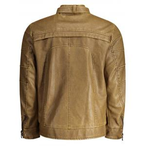 Mens Faux Leather Biker Jacket -
