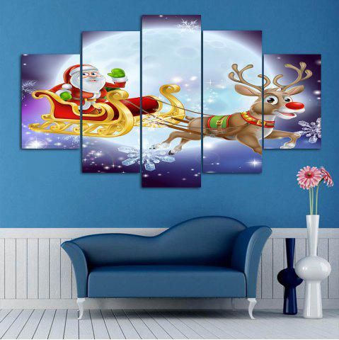Best Christmas Sled Print Split Canvas Wall Art Paintings