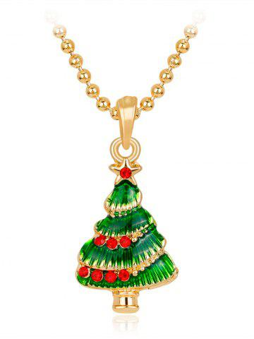 Collier Fleurs Crystals Star Christmas Tree