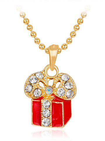 Latest Christmas Theme Charms Gift Box  Pendant Necklace