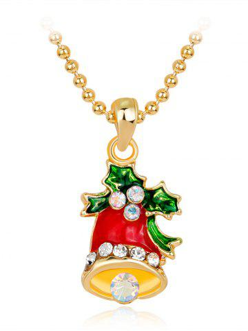 Hot Christmas Bell Enamel Pendant Necklace - RED  Mobile