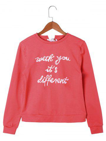 Buy Letter Printed Lace Up Sweatshirt