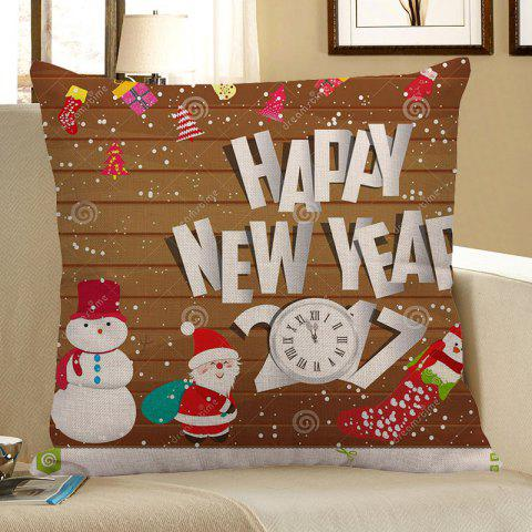 Best Father Christmas and Snowman Pattern Square Pillow Case