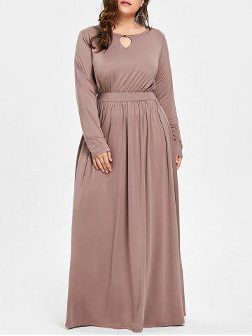Robe taille taille taille Maxi Plus Camel 3XL