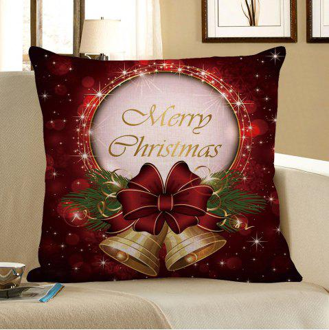 Fancy Christmas Bell Printed Square Pillow Case COLORFUL W18 INCH * L18 INCH