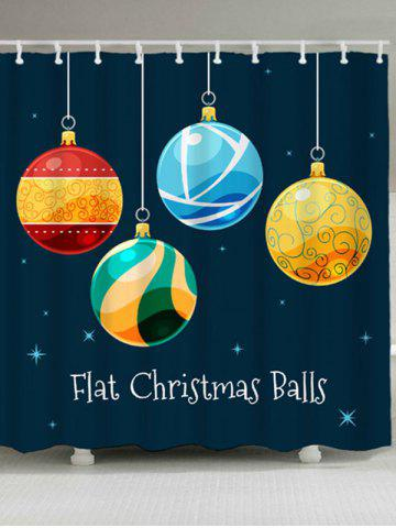 Best Christmas Ball Waterproof Bathroom Shower Curtain