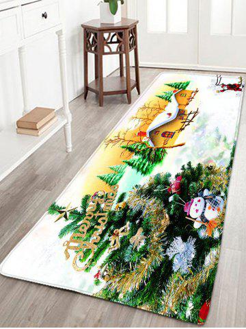 Affordable Flannel Thin Christmas Tree Antislip Bath Rug WHITE W16 INCH * L47 INCH