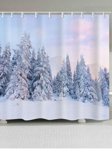 Outfit Snowfield Forest Printed Shower Bath Curtain