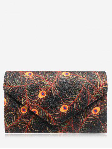 Outfit Envelope Sparkle Print Clutch Bag - BLACK  Mobile