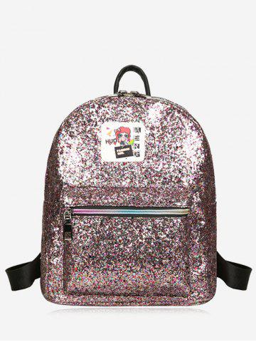 Chic Zipper Sequin Backpack - COLORFUL  Mobile