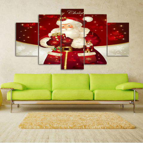 Affordable Christmas Santa Print Unframed Split Canvas Paintings