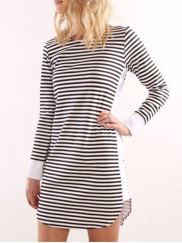 New Striped T Shirt Dress - S STRIP PATTERN Mobile