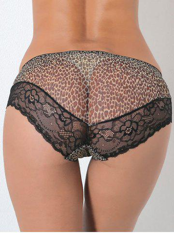 Unique Leopard Sheer Lace Panties LEOPARD ONE SIZE