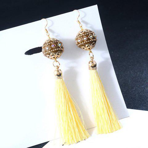 Buy Vintage Rhinestone Tassel Ball Hook Earrings