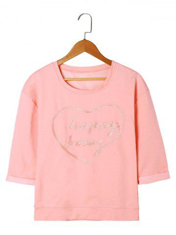 Store Letter Embroidery Top