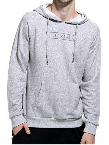 Store Graphic Print Pocket Hoodie - 2XL GRAY Mobile