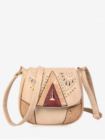 Outfits Geometric Rivet Hollow Out Crossbody Bag