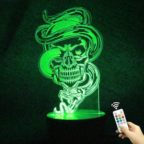 Discount Color Change Dragon Skull Shape Remote Control Night Light