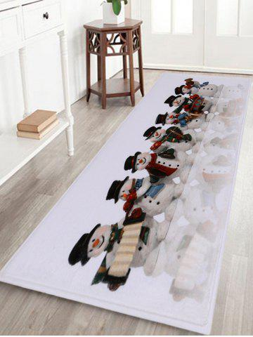 Trendy Christmas Snowman Band Antiskid Bath Rug