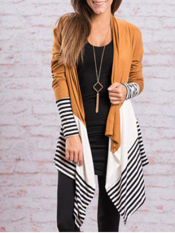 Outfits Color Block Handkerchief Cardigan - S GINGER Mobile