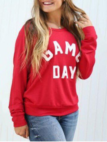 Best Game Day Print Sweatshirt - S RED Mobile