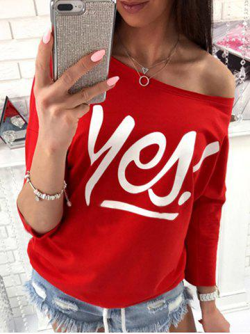 Discount Yes T Shirt RED S
