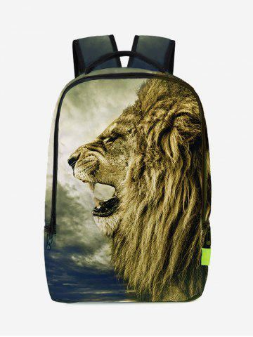 Fancy 3D Lion Printed Backpack - PALOMINO  Mobile
