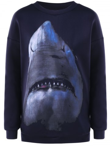 Latest Pullover Shark Printed Sweatshirt