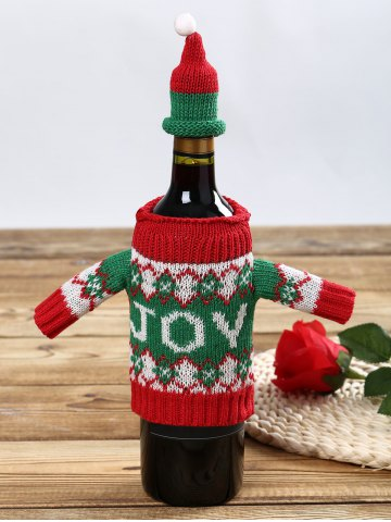 Outfits Joy Sweater Christmas Wine Bottle Cover - 1 SET COLORMIX Mobile