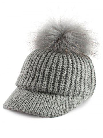 Latest Outdoor Pom Ball Embellished Knit Baseball Hat