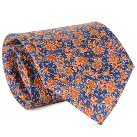Outfit Floral and Vine Print 9CM Width Tie BLUE