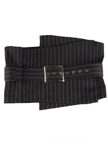 Latest High Waist Big Pin Buckle Corset Belt - STRIP PATTERN  Mobile