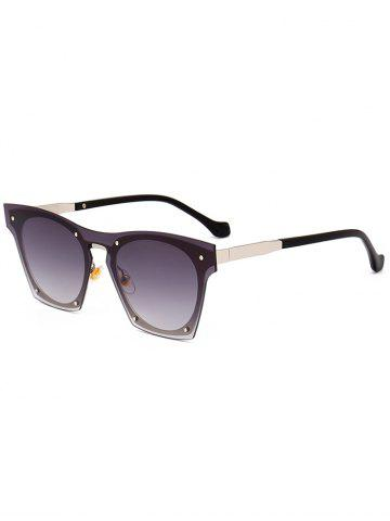 Affordable UV Protection Metal Frame Pilot Sunglasses - BLACK  Mobile