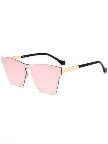 Latest UV Protection Metal Frame Pilot Sunglasses - PINK  Mobile