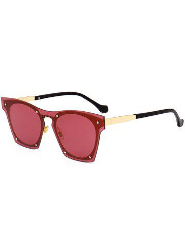 Hot UV Protection Metal Frame Pilot Sunglasses - RED  Mobile