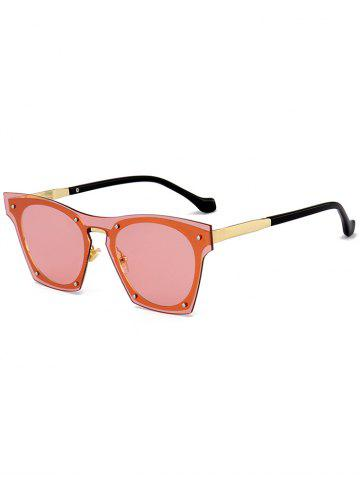 Outfit UV Protection Metal Frame Pilot Sunglasses ORANGE