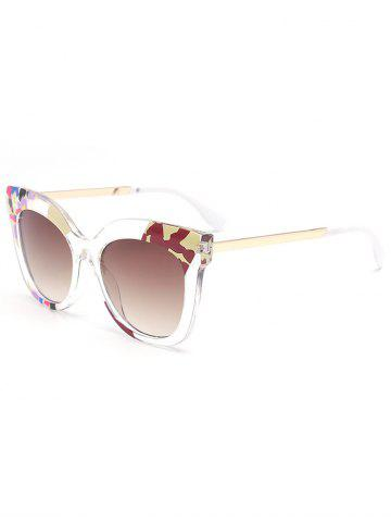 Unique Color Pieces Embellished Butterfly Sunglasses