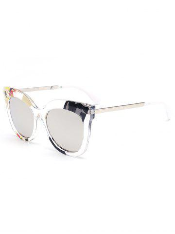 Online Color Pieces Embellished Butterfly Sunglasses SILVER