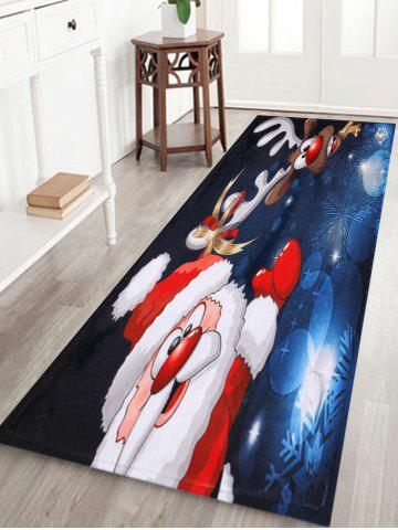 Hot Santa Claus Christmas Deer Skidproof Area Rug - W16 INCH * L47 INCH COLORMIX Mobile