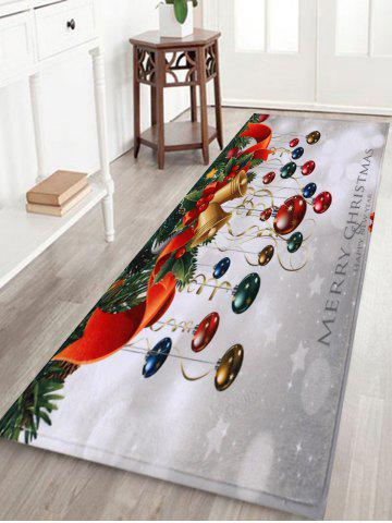 Hot Bathroom Antislip Christmas Ball Area Rug - W16 INCH * L47 INCH COLORMIX Mobile