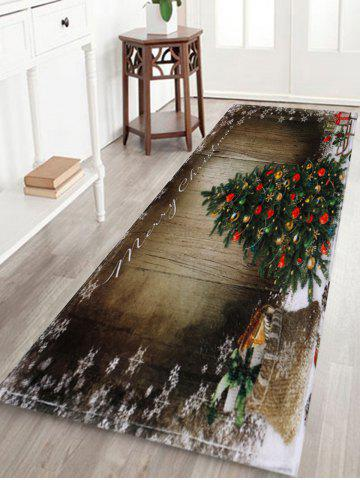 Latest Bathroom Antiskid Christmas Tree Area Rug - W24 INCH * L71 INCH BROWN Mobile
