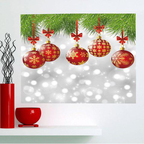 Shops Multifunction Christmas Baubles Pattern Stick-on Wall Art Painting COLORFUL 1PC:24*35 INCH( NO FRAME )