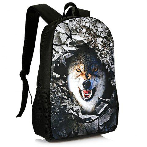 Hot 3D Rubble Animal Print Backpack