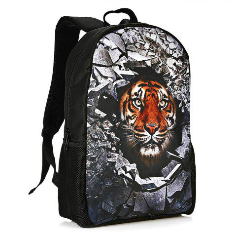 Store 3D Rubble Animal Print Backpack TIGER PRINT