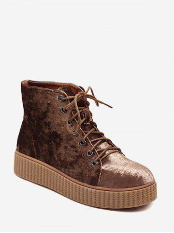 Bottines en daim en daim